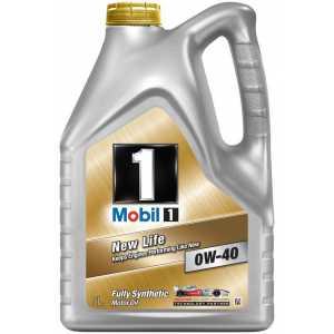 Моторно масло MOBIL 1 NEW LIFE 0W-40 5 литра
