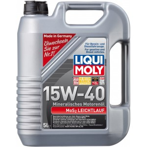 Моторно масло LIQUI MOLY MOS2 LEICHTLAUF 15W-40 пет литра