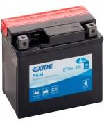 EXIDE BIKE AGM YTX5L-BS 4AH 70A 12V R+