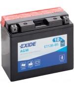 EXIDE BIKE AGM YT12B-BS 10AH 160A 12V L+