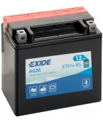 EXIDE BIKE AGM YTX14-BS 12AH 200A 12V L+