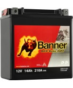 BANNER BIKE BULL AGM YTX16-BS 14AH 210A L+