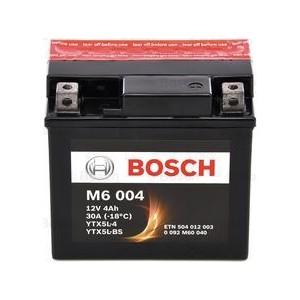 Акумулатор за мотоциклет BOSCH M6 AGM YTX5L-BS 4AH 30A 12V R+
