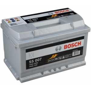Акумулатор BOSCH SILVER S5 74AH 750A R+