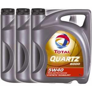3 броя TOTAL QUARTZ 9000 5W-40 5L