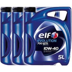 3 броя ELF EVOLUTION STI 10W-40 15L