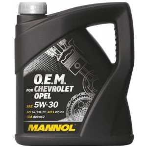 MANNOL O.E.M. OPEL, CHEVROLET  5W-30 4L