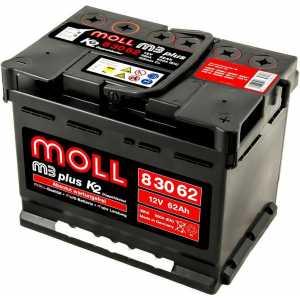 MOLL M3 PLUS 62AH 600A R+