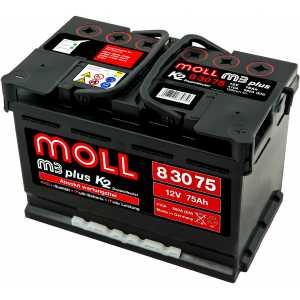 MOLL M3 PLUS 75AH 660A R+