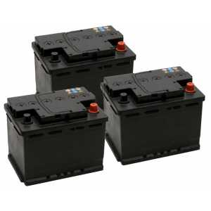 3 броя акумулатори от 45AH