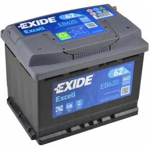 Акумулатор EXIDE EXCELL 62AH 540A R+