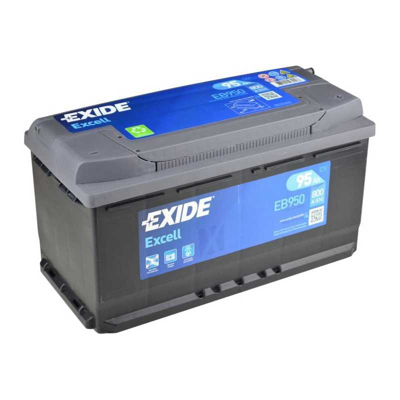 EXIDE EXCELL 95AH 800A R+