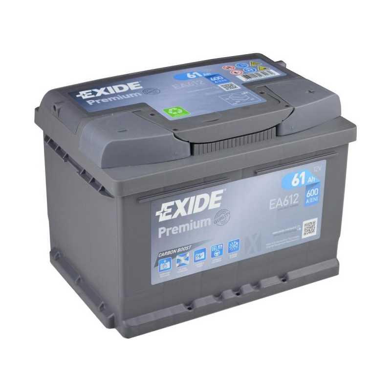 EXIDE PREMIUM 61AH 600A R+