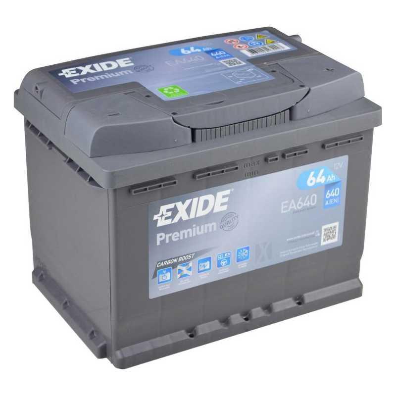 EXIDE PREMIUM 64AH 640A R+