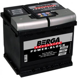 Акумулатори BERGA POWER BLOCK 44AH 440A R+