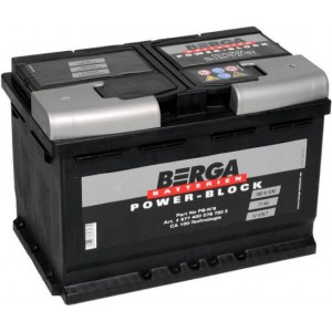 Акумулатор BERGA POWER BLOCK 77AH 780A R+