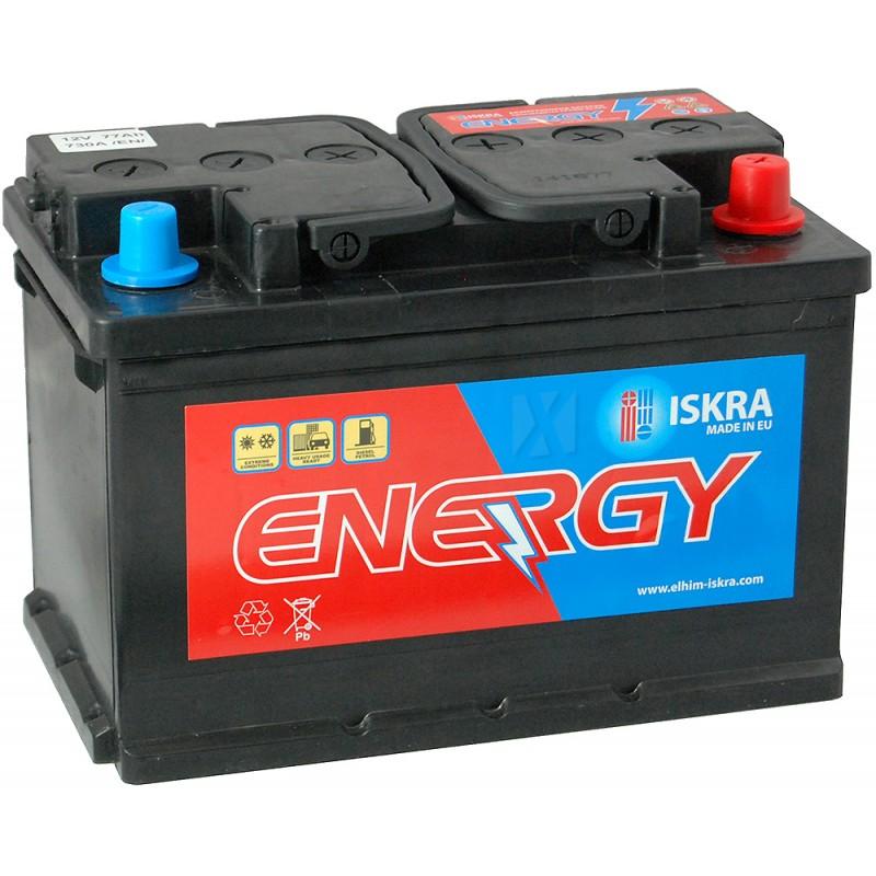 ISKRA ENERGY 77AH 730A R+