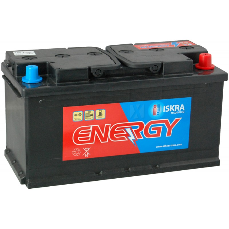 ISKRA ENERGY 100AH 900A R+