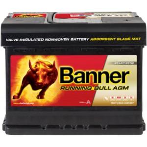 Акумулатор BANNER RUNNING BULL AGM 60AH 600A R+