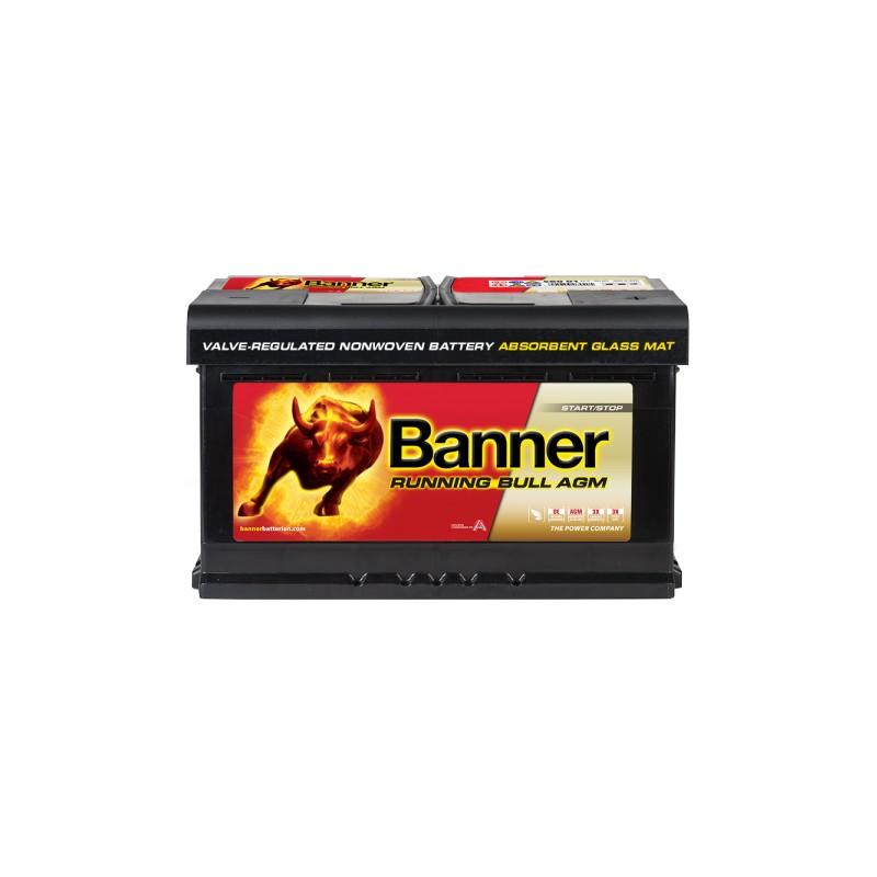 BANNER RUNNING BULL AGM 80AH 800A R+