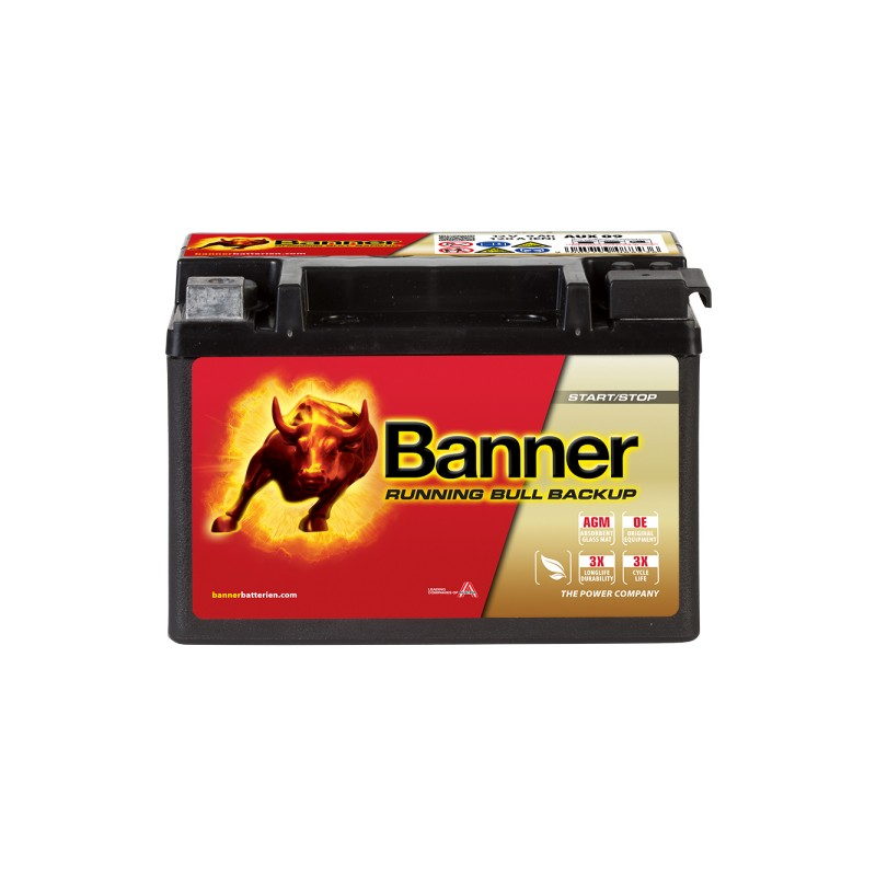 BANNER RUNNING BULL BACKUP 9AH 120A L+
