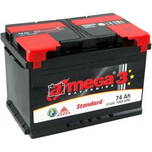 Акумулатор A-MEGA STANDART 74AH 720A R+