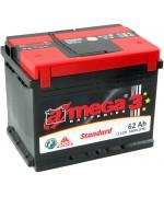 Акумулатори A-MEGA STANDART 62AH 560A R+
