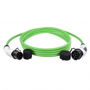 DUOSIDA CABLE TYPE 2 TO TYPE 2 32A 7,4KW 5M GREEN