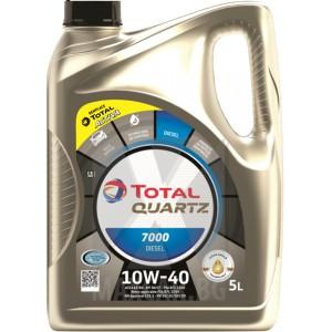 Моторно масло TOTAL QUARTZ 7000 DIESEL 10W-40 5L