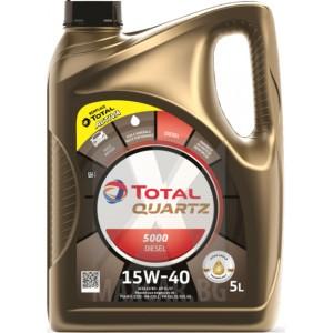 Моторно масло TOTAL QUARTZ 5000 DIESEL 15W-40 5L