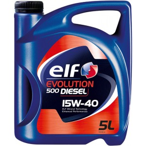 Моторно масло ELF EVOLUTION 500 DIESEL 15W-40 5L