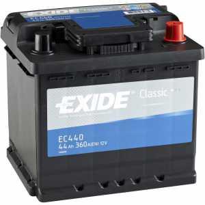 Акумулатор EXIDE CLASSIC 44AH 360A R+