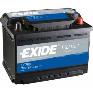 Акумулатор EXIDE CLASSIC 70AH 640A R+