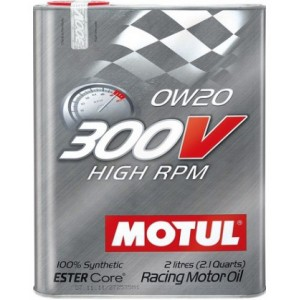 MOTUL 300V HIGH RPM 0W-20 2L