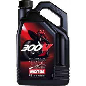 Моторно масло MOTUL 300V FACTORY LINE ROAD RACING 15W-50 4L