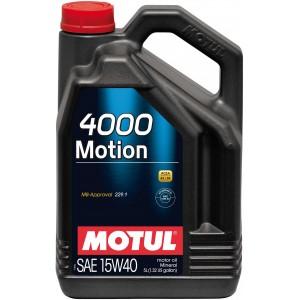 Моторно масло MOTUL 4000 MOTION 15W-40 пет литра