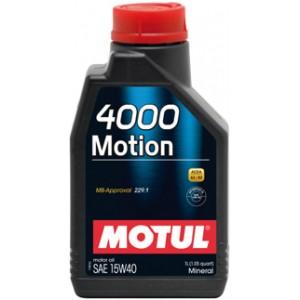 Моторно масло MOTUL 4000 MOTION 15W-40 един литър
