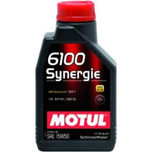 Моторно масло MOTUL 6100 SYNERGIE 15W-50 един литър