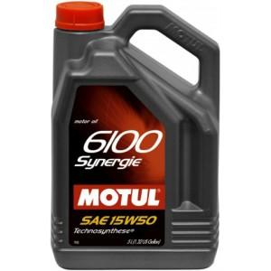 Моторно масло MOTUL 6100 SYNERGIE 15W-50 пет литра