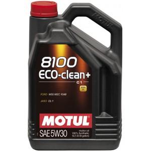 Моторно масло MOTUL 8100 ECO-CLEAN+ 5W-30 пет литра