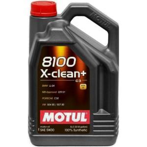 Моторно масло MOTUL 8100 X-CLEAN+ 5W-30 пет литра