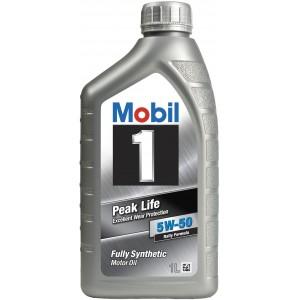 Моторно масло MOBIL 1 PEAK LIFE 5W-50 един литър